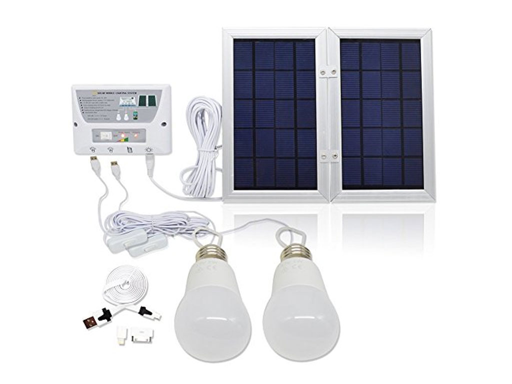 Solar home light 2led